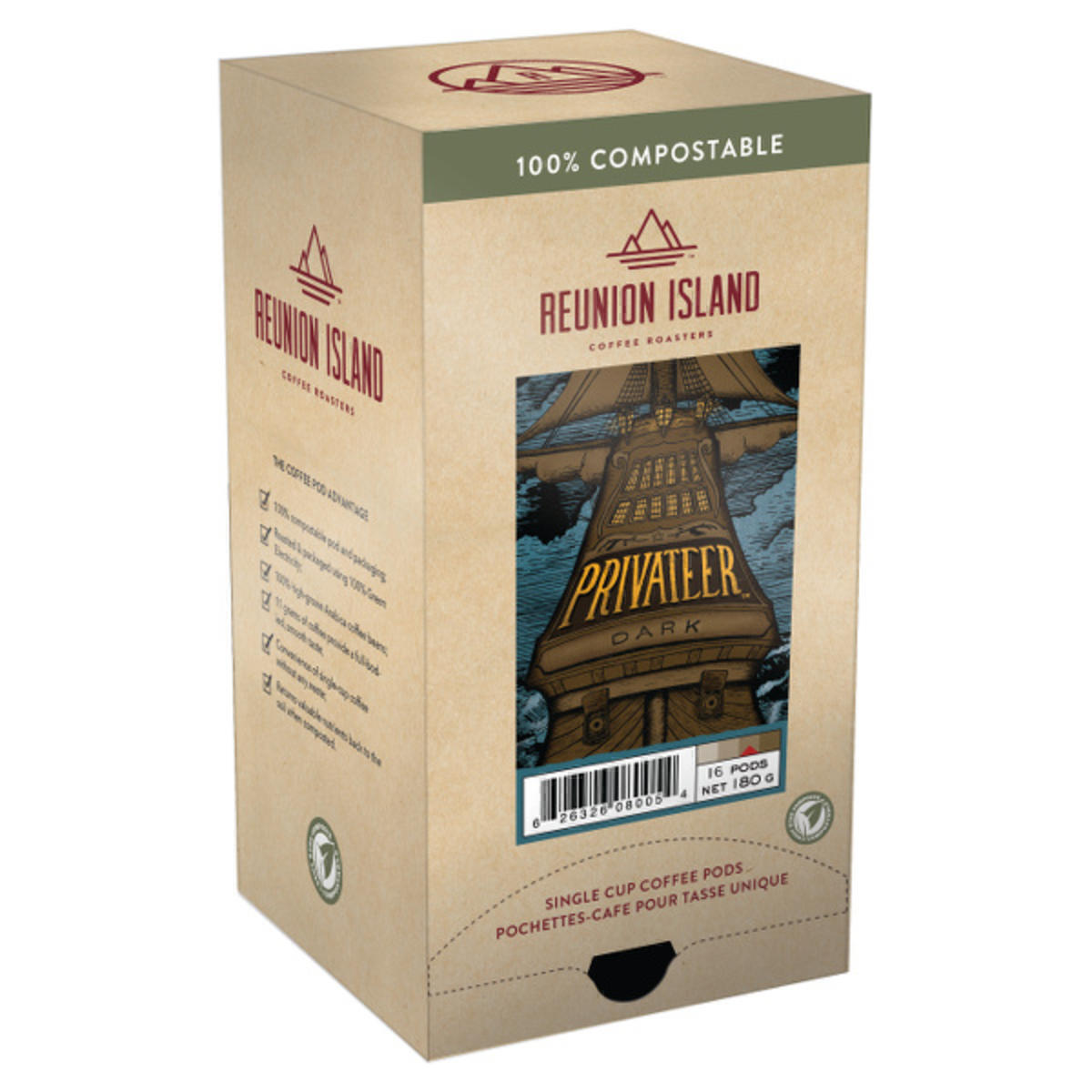 PRIVATEER DARK COFFEE POD