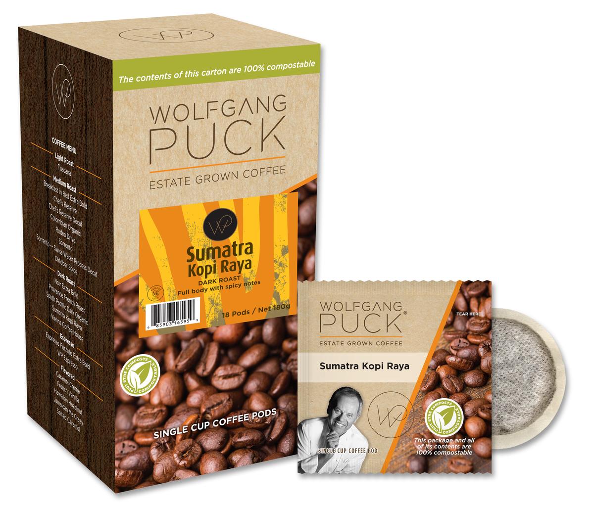 Wolfgang Puck Sumatra Kopi Raya Pods