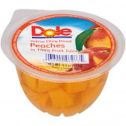 Dole Fruit Bowl Sliced Peaches